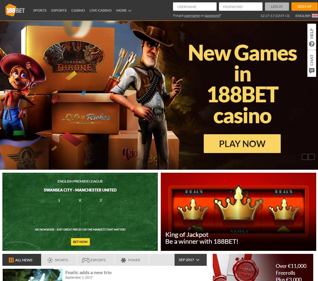 Сайт БК 188bet