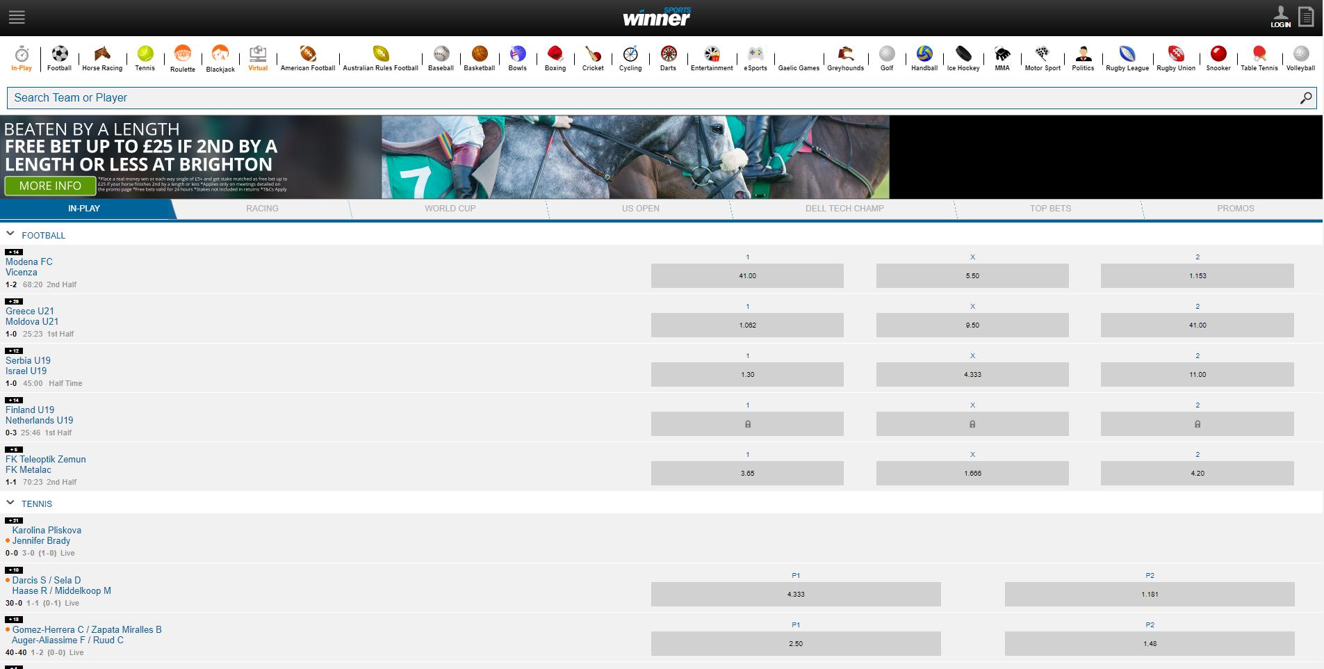 Сайт БК WinnerSports